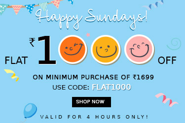 FLAT Rs. 1000 OFF On Min. Purchase 1699 – Shop Online at Yepme.com